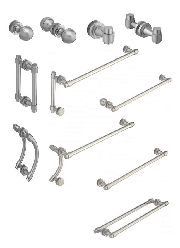 Shower Door Hardware Options