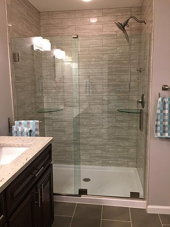 & ESSENCE Frameless Sliding Shower Doors