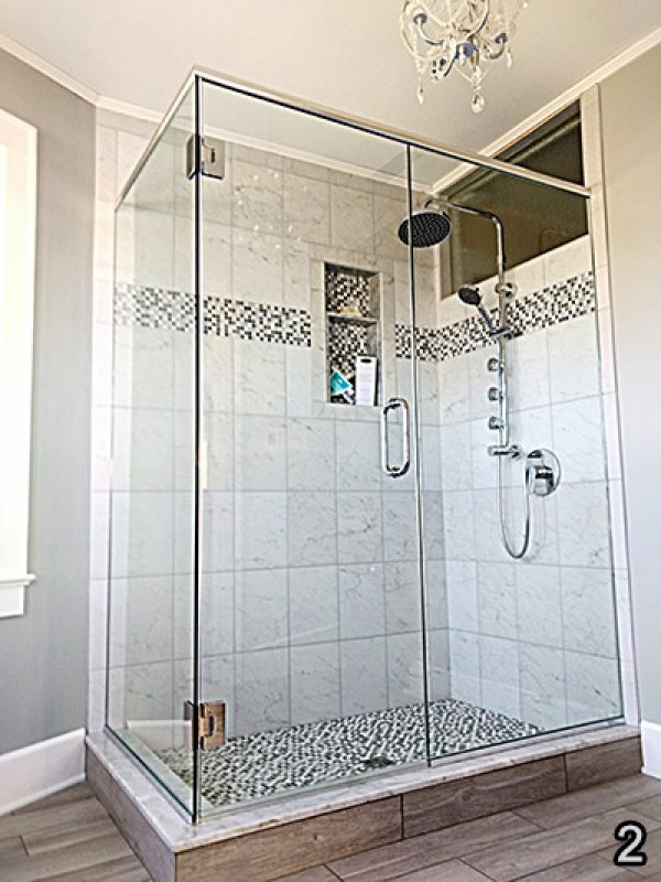 Custom Frameless Shower Door Store - Master Shower Doors